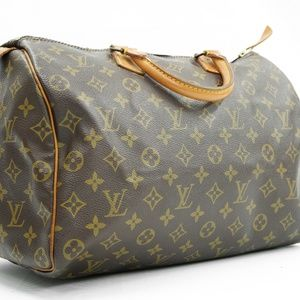 Louis Vuitton Speedy 35 Brown Monogram Canvas Tote